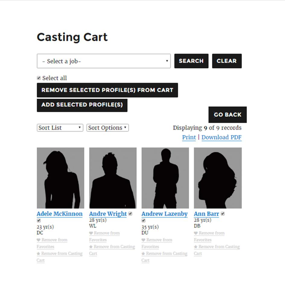 Casting Cart