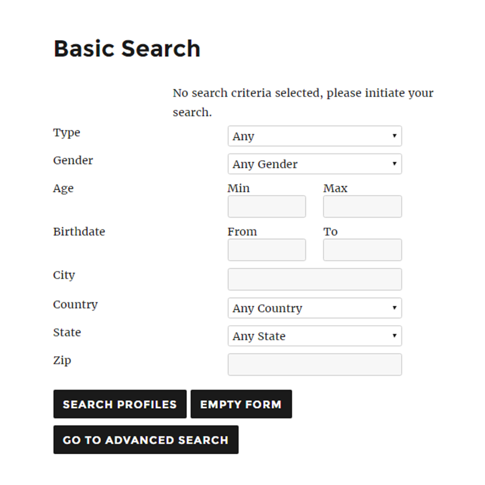 Search Profiles